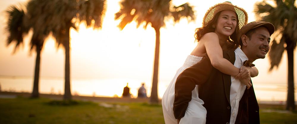 沖縄フォトウェディング 写真撮影ビーチ プレミアムプラン