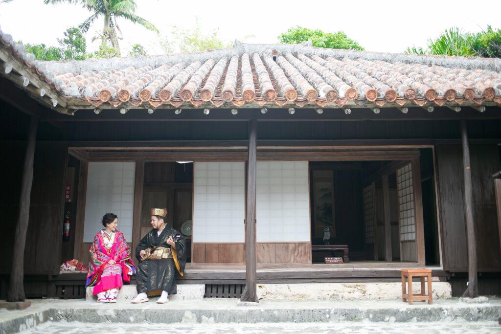 古民家で琉球衣装撮影