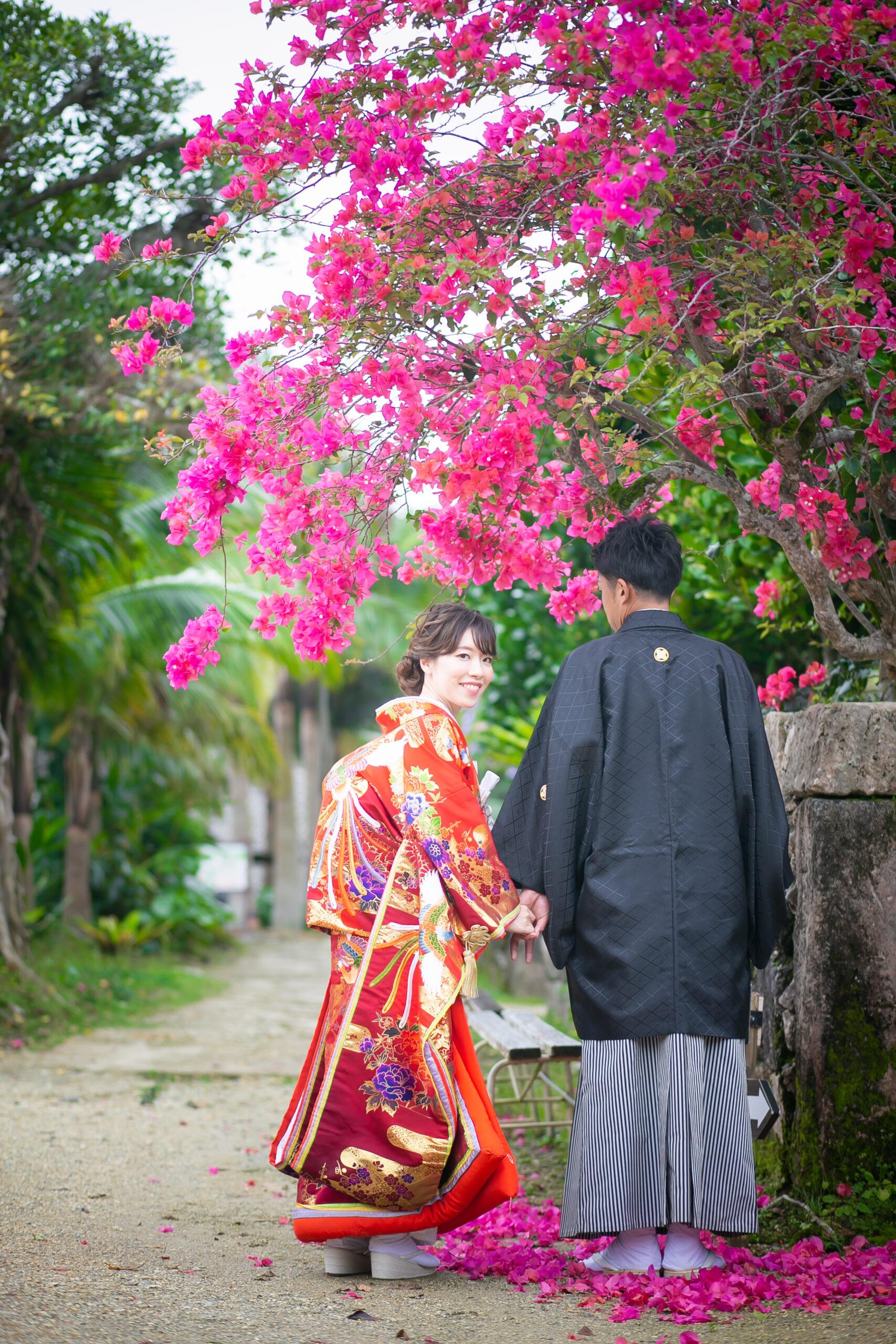 琉球村で和装