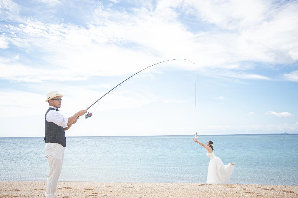 二人の趣味は釣り
